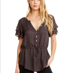 Chaser | Heirloom Gauze Flouncy Peplum Top